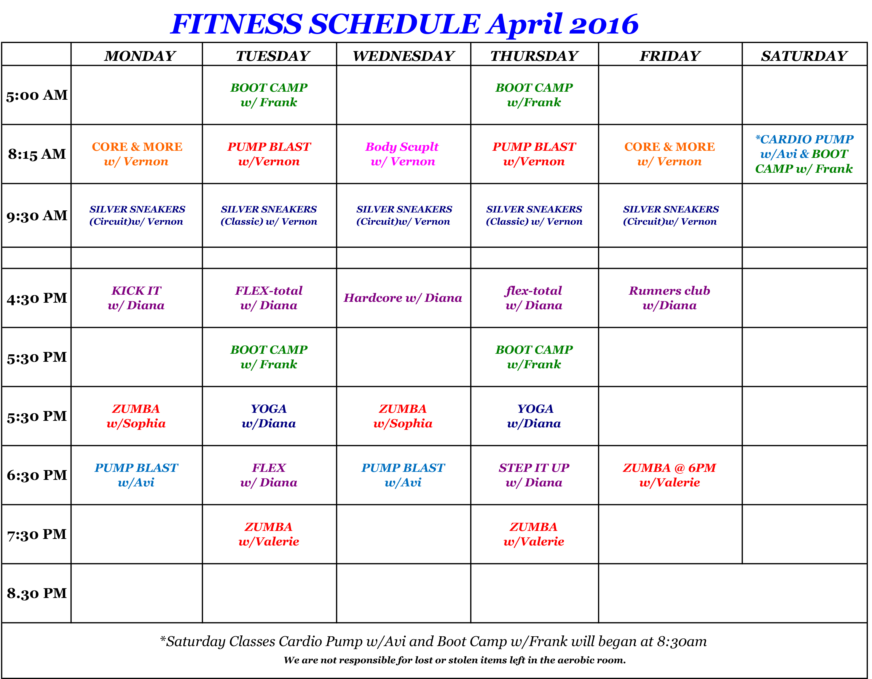 Fitness ScheduleApril2016